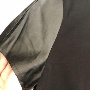 LOFT Tops - Loft faux leather trim peplum top (size large)